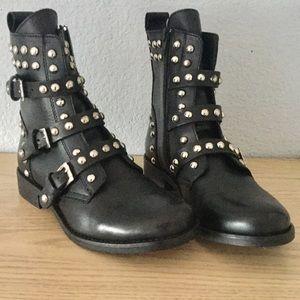 1cff1ecc0eb Steve Madden Shoes - Steve Madden Spunky studded moto boots